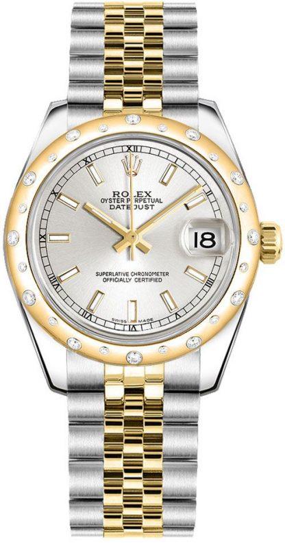 repliche Orologio da donna Rolex Datejust 31 quadrante argento 178343