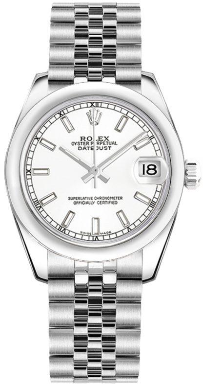 repliche Orologio da donna Rolex Datejust 31 quadrante bianco Jubilee Bracelet 178240