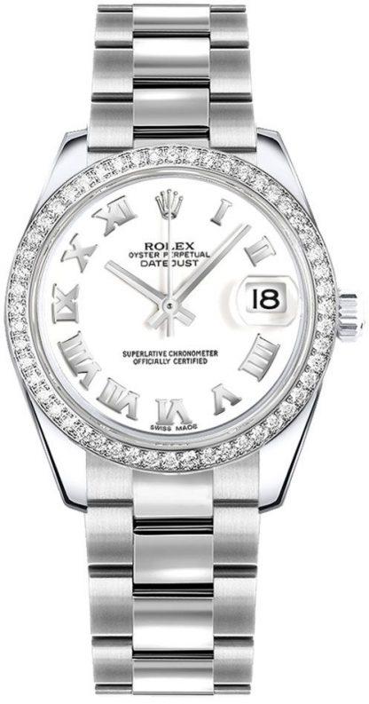 repliche Orologio da donna Rolex Datejust 31 quadrante bianco Oyster Bracelet 178384