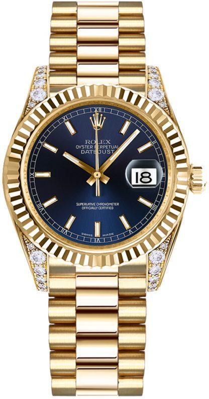 repliche Orologio da donna Rolex Datejust 31 quadrante blu diamante 178238