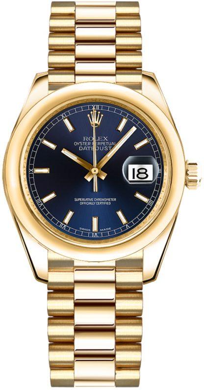 repliche Orologio da donna Rolex Datejust 31 quadrante blu oro 178248