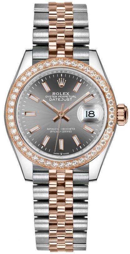 repliche Orologio da donna Rolex Datejust 31 quadrante rodio scuro 278381RBR