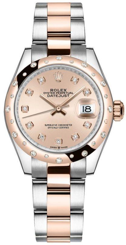 repliche Orologio da donna Rolex Datejust 31 quadrante rosa rosa diamanti 278341RBR