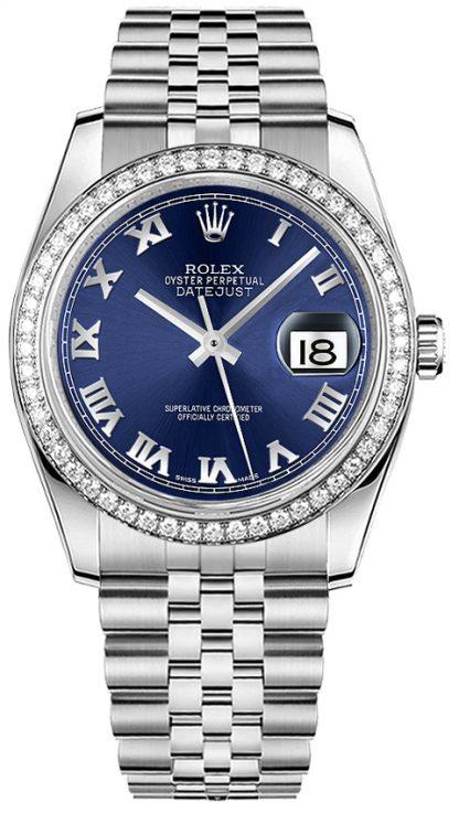 repliche Orologio da donna Rolex Datejust 36 con diamanti 116244