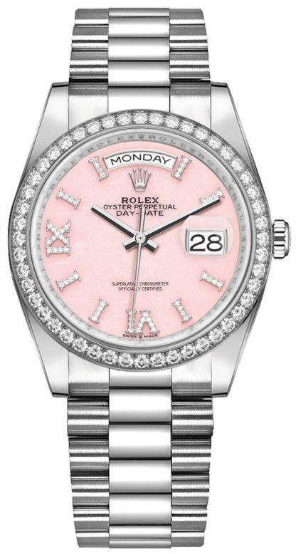 repliche Orologio da donna Rolex Day-Date 36 Diamante opale rosa da donna 128349RBR
