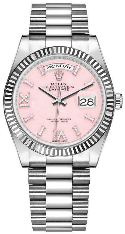 repliche Orologio da donna Rolex Day-Date 36 Opal rosa 128239