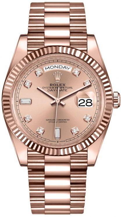 repliche Orologio da donna Rolex Day-Date 36 oro 18k Everose 128235