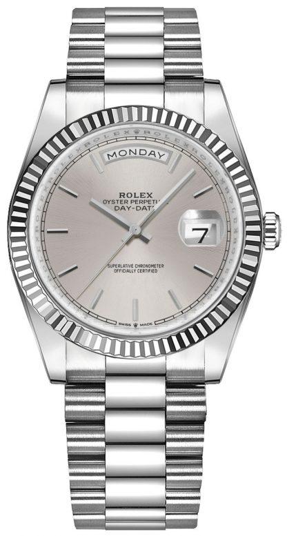 repliche Orologio da donna Rolex Day-Date 36 oro bianco 18 carati 128239