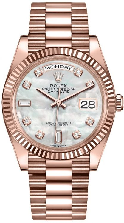 repliche Orologio da donna Rolex Day-Date 36 quadrante madreperla orologio da donna 128235