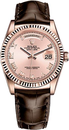 repliche Orologio da donna Rolex Day-Date 36 quadrante rosa 118135