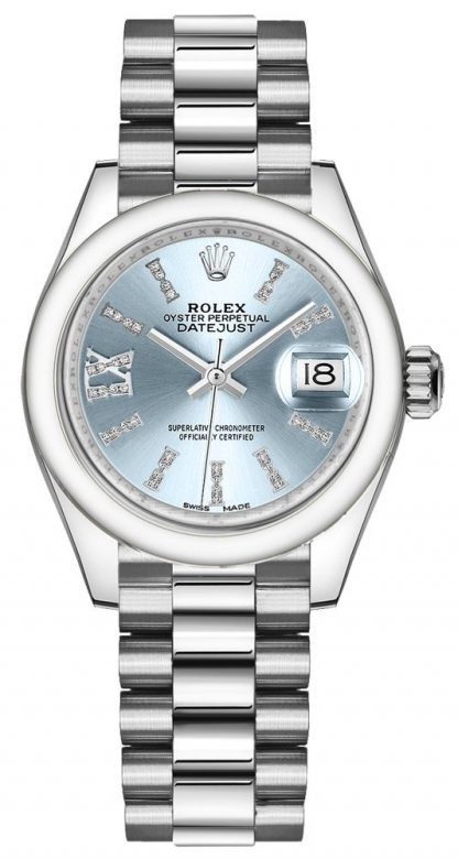 repliche Orologio da donna Rolex Lady-Datejust 28 Platinum 279166
