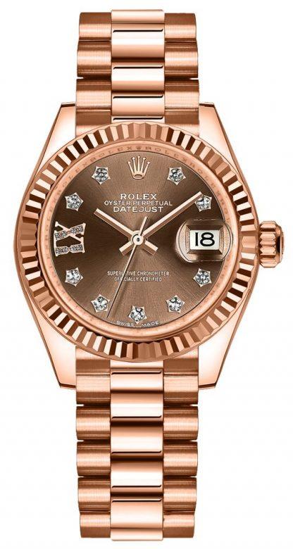 repliche Orologio da donna Rolex Lady-Datejust 28 President Bracelet 279175