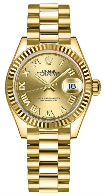 repliche Orologio da donna Rolex Lady-Datejust 28 President Bracelet 279178