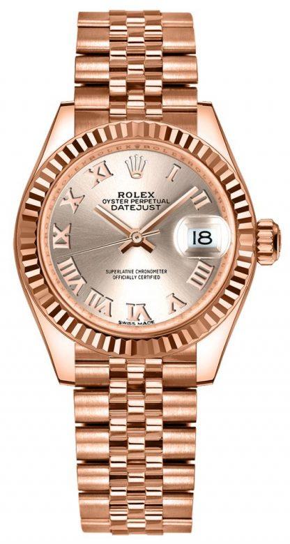 repliche Orologio da donna Rolex Lady-Datejust 28 Sundust Jubilee Bracelet 279175