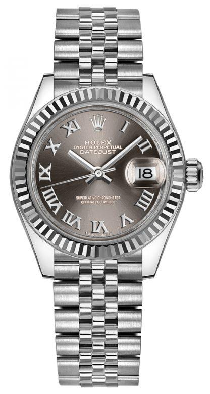 repliche Orologio da donna Rolex Lady-Datejust 28 in acciaio 279174