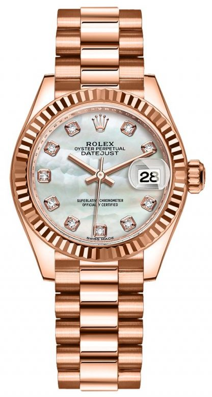 repliche Orologio da donna Rolex Lady-Datejust 28 madreperla 279175