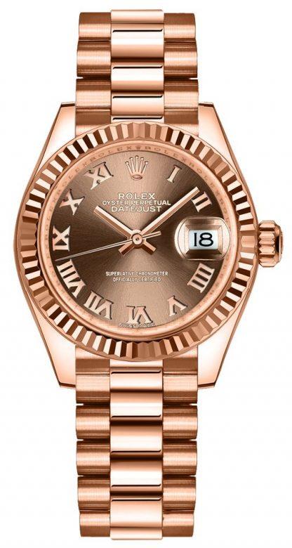 repliche Orologio da donna Rolex Lady-Datejust 28 numeri romani 279175