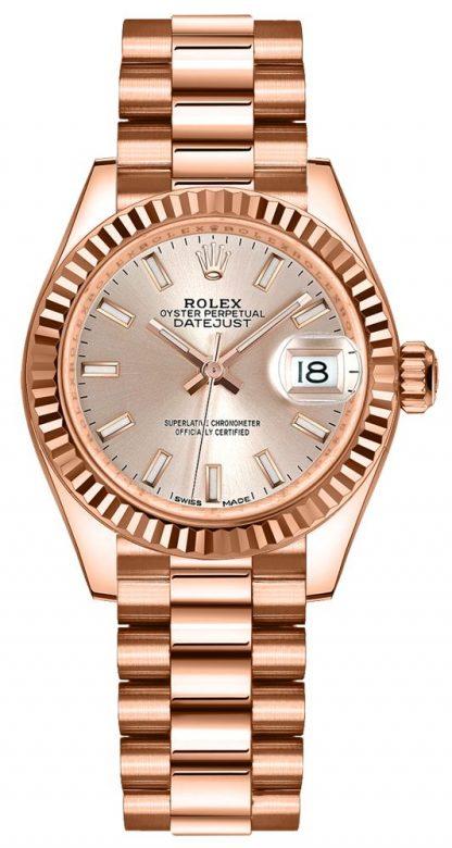 repliche Orologio da donna Rolex Lady-Datejust 28 quadrante Sundust 279175