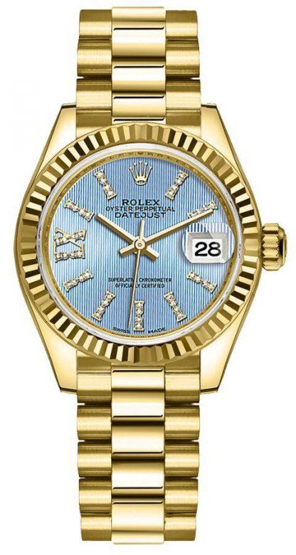 repliche Orologio da donna Rolex Lady-Datejust 28 quadrante blu fiordaliso 279178