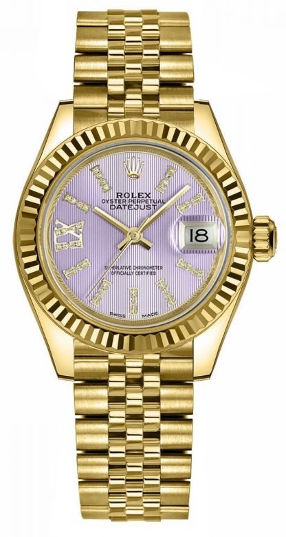 repliche Orologio da donna Rolex Lady-Datejust 28 quadrante diamante lilla 279178