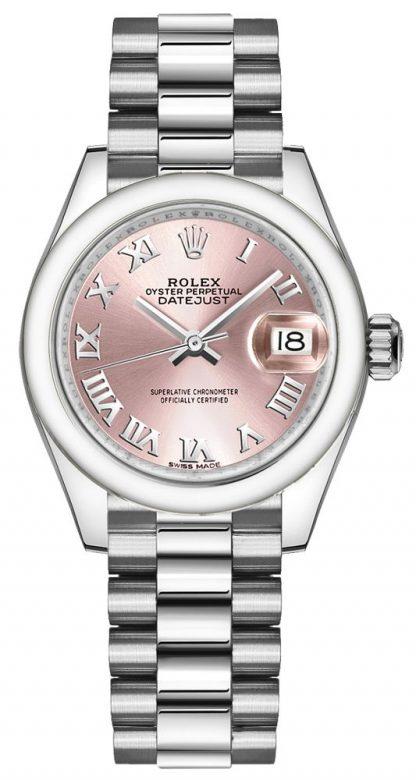 repliche Orologio da donna Rolex Lady-Datejust 28 quadrante romano rosa 279166