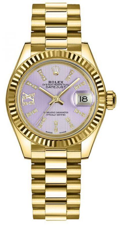 repliche Orologio da donna Rolex Lady-Datejust 28mm President Bracelet 279178