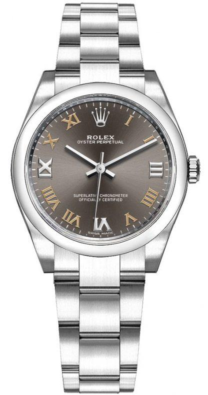 repliche Orologio da donna Rolex Oyster Perpetual 31 quadrante grigio scuro 177200