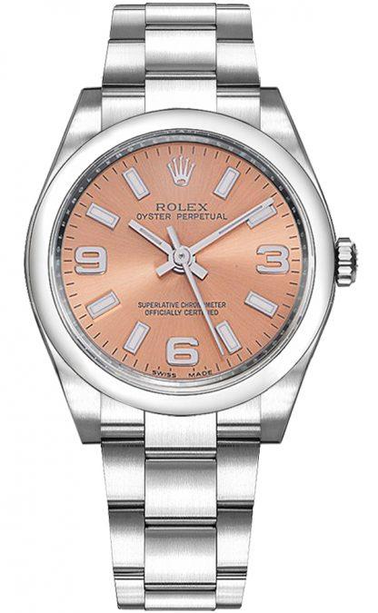 repliche Orologio da donna Rolex Oyster Perpetual 34 quadrante rosa 114200