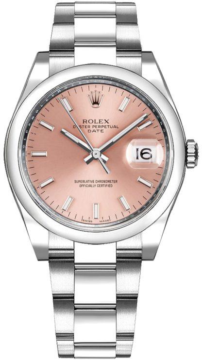 repliche Orologio da donna Rolex Oyster Perpetual Date 34 quadrante rosa 115200