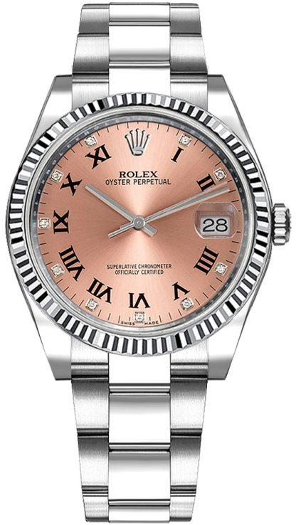 repliche Orologio da donna Rolex Oyster Perpetual Date 34 quadrante rosa 115234