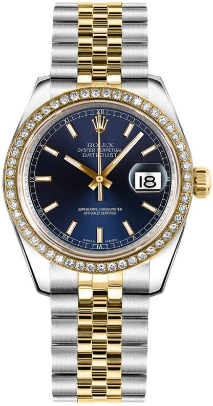 repliche Orologio da polso Rolex Datejust 31 quadrante blu Giubileo 178383