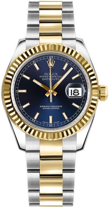 repliche Orologio da polso Rolex Datejust 31 quadrante blu Oyster 178273