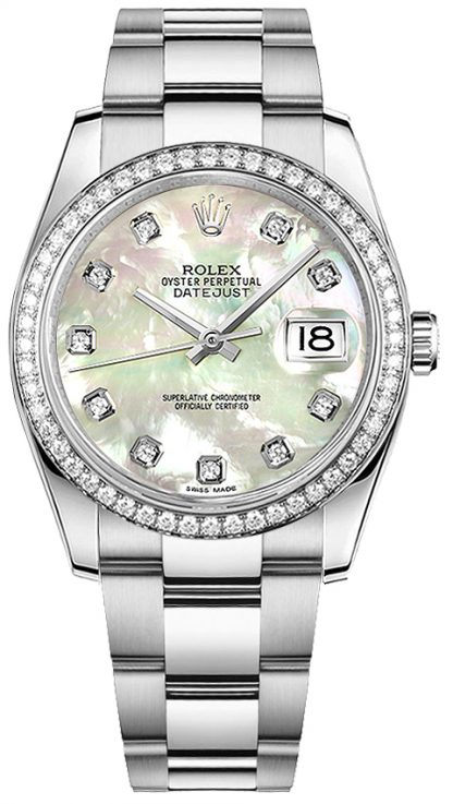repliche Orologio da polso Rolex Datejust 36 con madreperla oyster 116244
