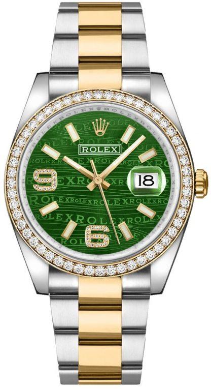 repliche Orologio da polso Rolex Datejust 36 quadrante verde Oyster 116243