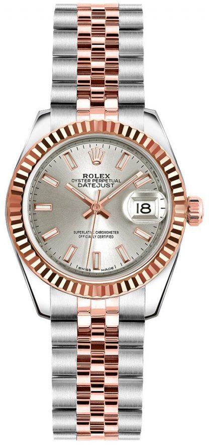 repliche Orologio da polso Rolex Lady-Datejust 26 SIlver Dial Jubilee 179171