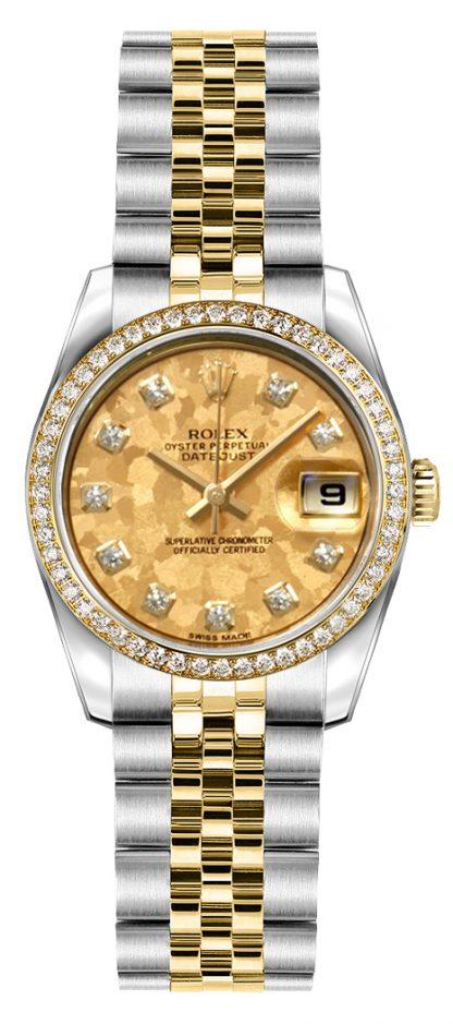 repliche Orologio da polso Rolex Lady-Datejust 26 acciaio e oro Jubilee 179383