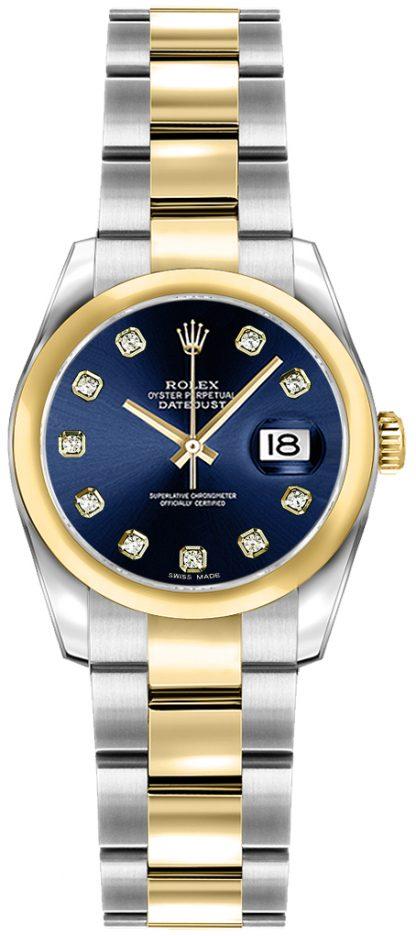 repliche Orologio da polso Rolex Lady-Datejust 26 diamante blu Oyster 179163