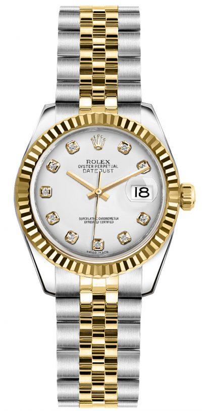 repliche Orologio da polso Rolex Lady-Datejust 26 diamanti bianchi Giubileo 179173