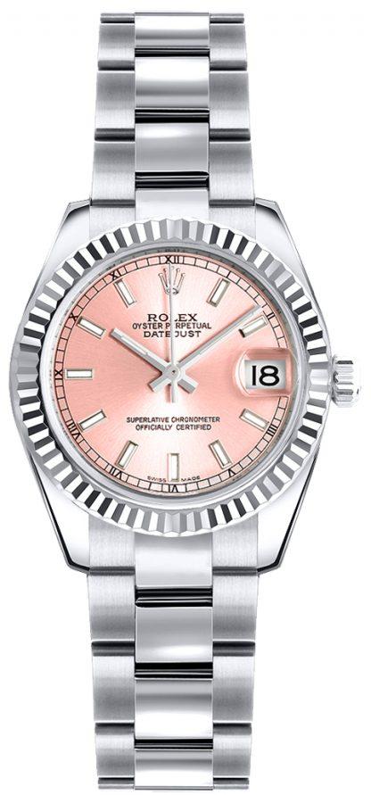repliche Orologio da polso Rolex Lady-Datejust 26 quadrante rosa Oyster 179179