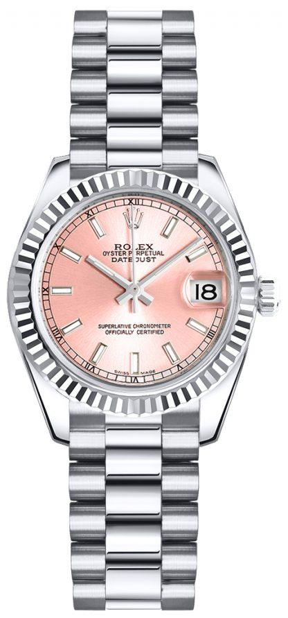 repliche Orologio da polso Rolex Lady-Datejust 26 quadrante rosa President 179179
