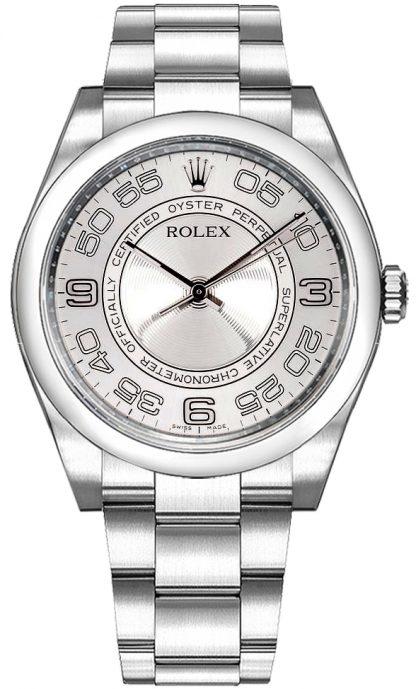 repliche Orologio da polso Rolex Oyster Perpetual 36 con cupola e quadrante argento 116000
