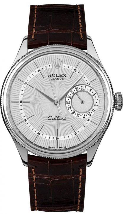 repliche Orologio da uomo Rolex Cellini Date quadrante di lusso in argento 50519