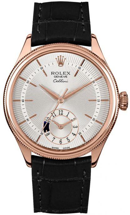 repliche Orologio da uomo Rolex Cellini Dual Time doppio castone 50525