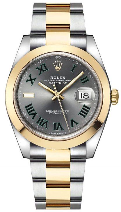 repliche Orologio da uomo Rolex Datejust 41 Wimbledon Dial 126303