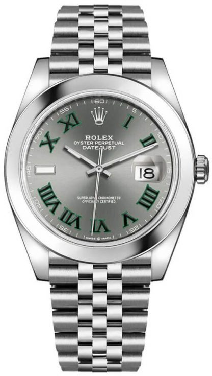 repliche Orologio da uomo Rolex Datejust 41 Wimbledon Jubilee Bracelet 126300