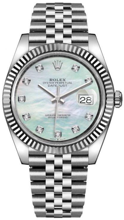 repliche Orologio da uomo Rolex Datejust 41 con diamante in madreperla 126334