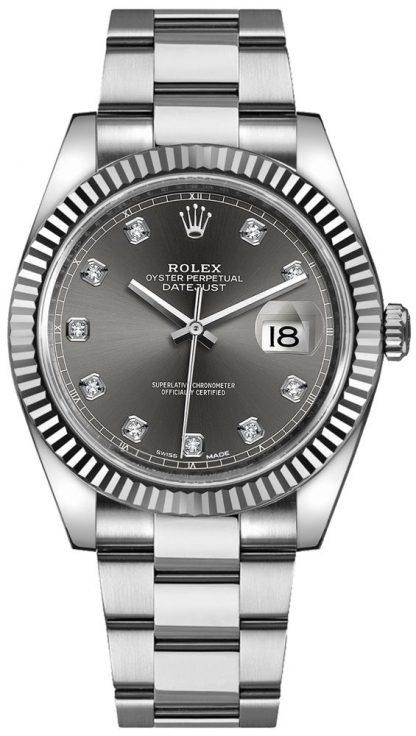 repliche Orologio da uomo Rolex Datejust 41 con quadrante in diamante 126334