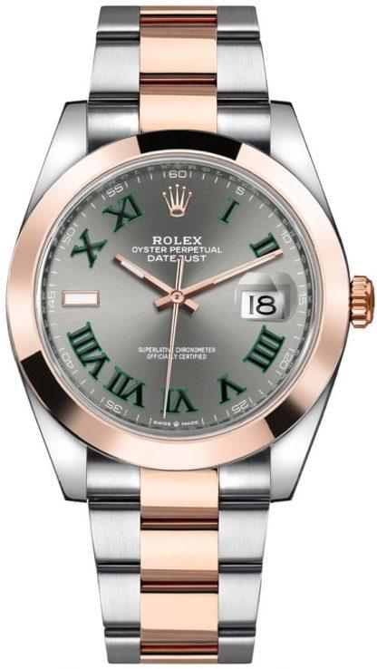 repliche Orologio da uomo Rolex Datejust 41 quadrante grigio ardesia 126301