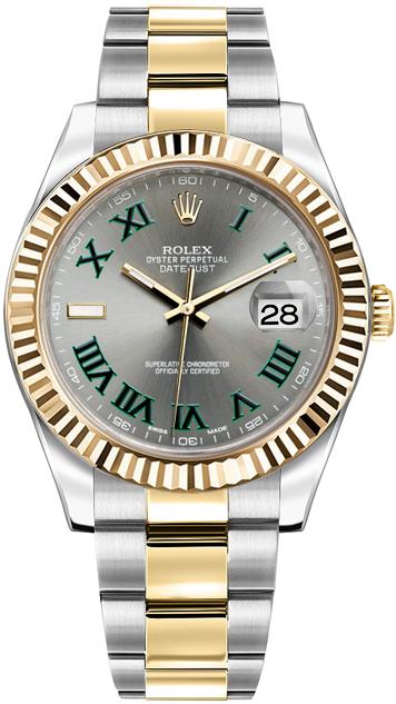 repliche Orologio da uomo Rolex Datejust II 41 automatico in oro e acciaio 116333