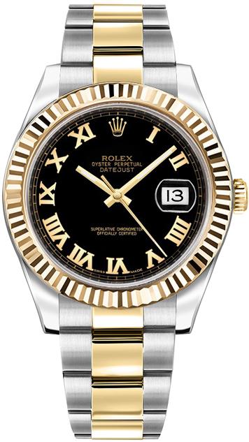 repliche Orologio da uomo Rolex Datejust II 41 in oro e acciaio 116333